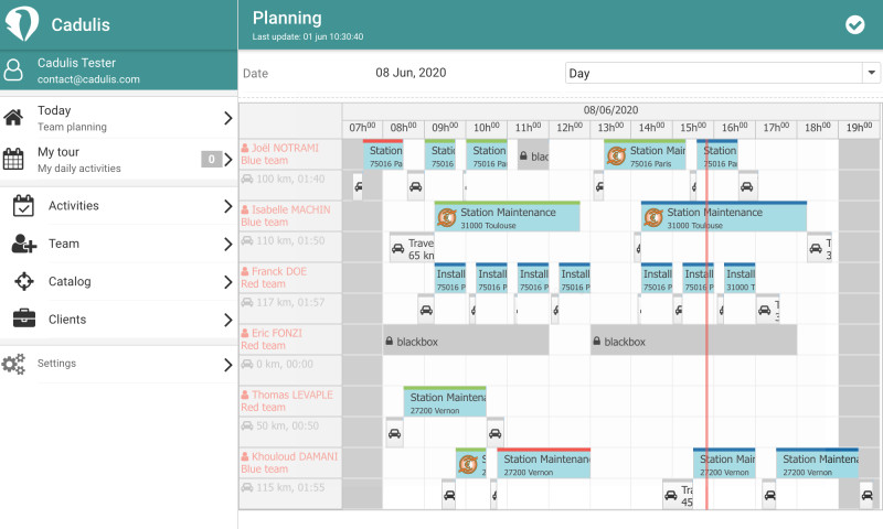 Complete planning of your teams at a glance